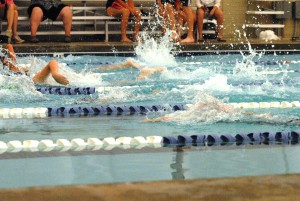 Swimming at Tetrathlon